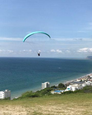 Paragliding At Canoa Beach